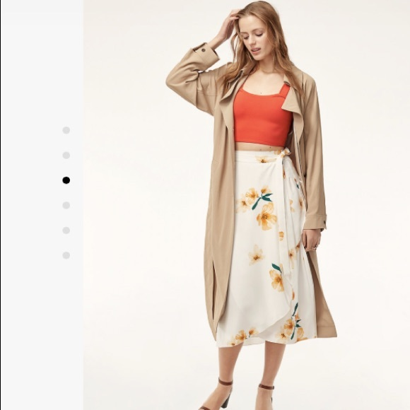 25da5583ccc Aritzia Wilfred Floral Wrap Skirt